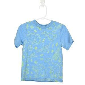 The Children's Place Blue Dinosaur Printed T-Shirt